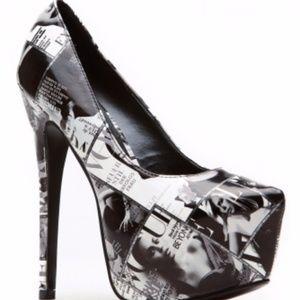 Vogue Magazine platform pumps & matching purse, 10